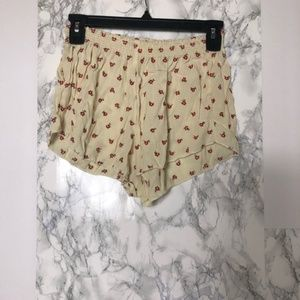 Brandy Melville Floral Embroidered Ross Shorts